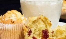Magic Cherry and Almond Muffins