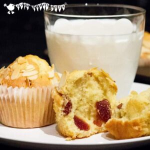 Delicious Cherry and Almond Muffin recipe.