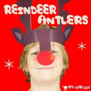 Reindeer Antlers Christmas Headband - Free Colour Printable from Kids Craft Room