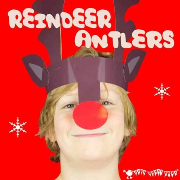 Reindeer Antlers Christmas Headband - Free Colour Printable from Kids Craft Room