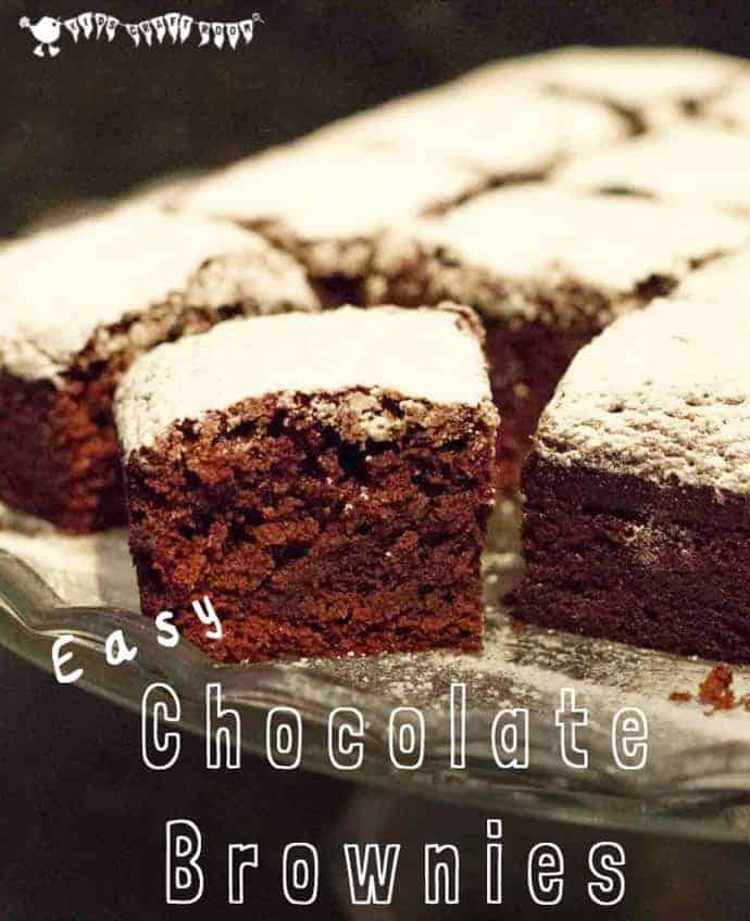 Super Easy Chocolate Brownie Recipe. Great for cooking with kids.