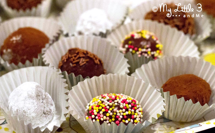 Easy Chocolate Truffles, a fabulous recipe for kids.