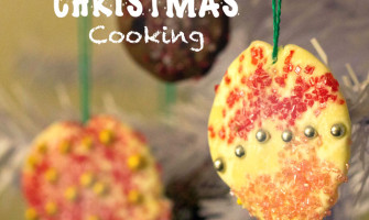 Super easy Chocolate Tree Decorations, a great Christmas cooking activity for kids. From My Little 3 and Me.