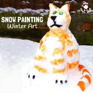 Snow Painting – Winter Art For Kids