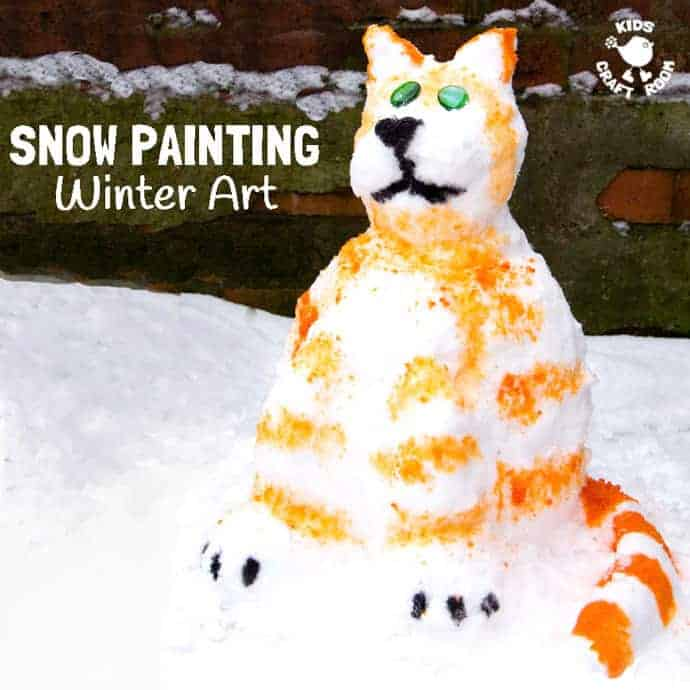 SNOW PAINTING, a fabulous Winter art activity for kids. Bring your snowman creations to life! #snowman #snowmancraft #winter #wintercrafts #wintercraftsforkids #kidscrafts #craftsforkids #winteractivities #winterideas #winterplayideas #smallworldplay #playideas #kidsart #winterart #artideas #winterartideas #painting #kidspainting #paintingideas #snow #processart