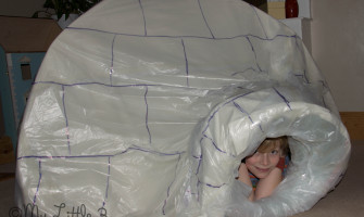 Make an indoor igloo