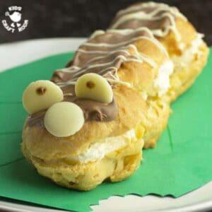 Caterpillar Chocolate Eclairs