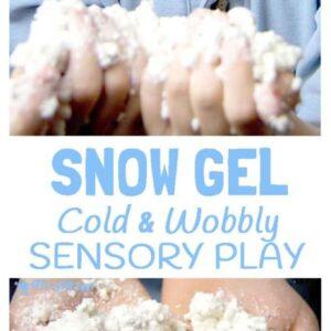 How To Make Snow Gel – Sensory Play