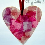 Valentine Craft – Milk Bottle Stained Glass Hearts
