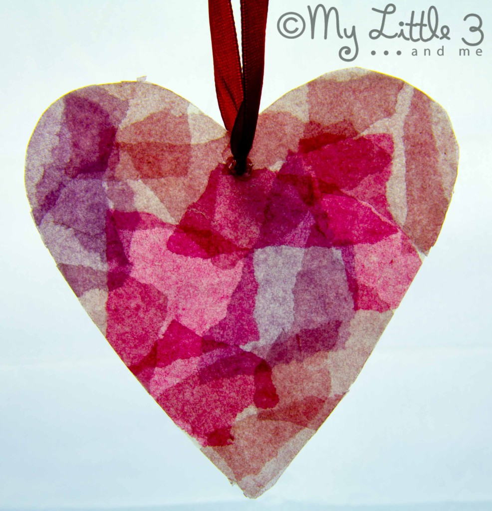 Hanging Stained Glass Effect Heart