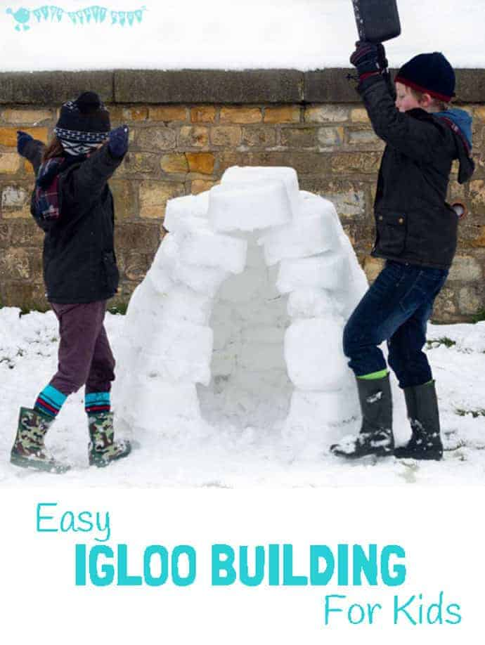 Want to know how to build an igloo? Well it's easy, you only need one thing...and snow of course, lots of snow! Building an igloo is such a fun Winter activity for kids.