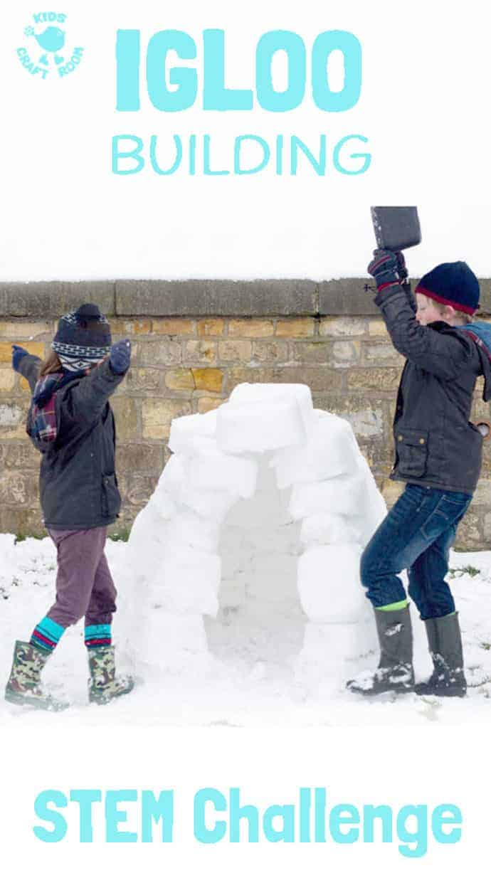 HOW TO BUILD AN IGLOO? Give kids the opportunity to explore and test their ideas, evaluate and problem solve with this Winter build an igloo STEM challenge.