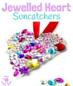 Gorgeous Jewelled Heart Suncatchers