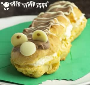 Caterpillar Chocolate Eclairs