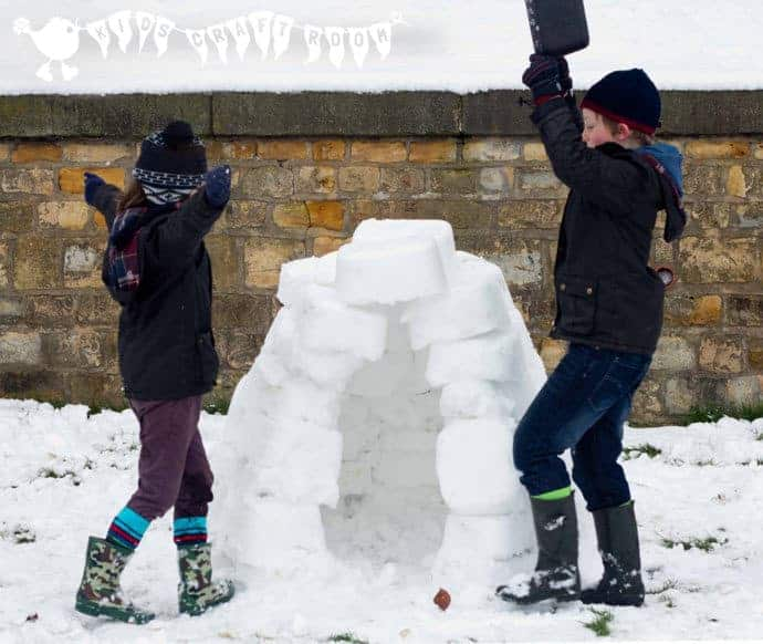 How to build a REAL IGLOO - a fun Winter construction activity for kids.