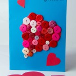 Button Valentine Card and Printable