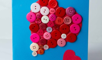 Valentine Button Card