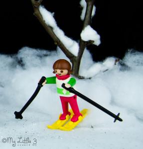 Snow Scene Small World Play Set, a fun Winter craft for kids.