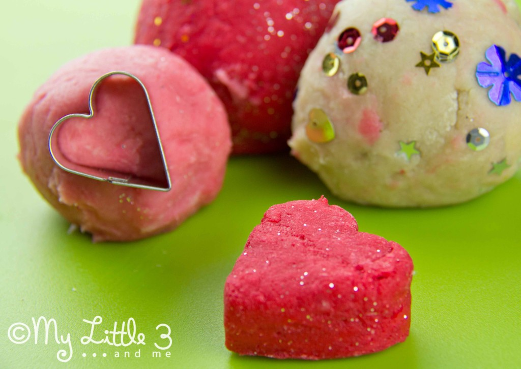 Rose scented play dough recipe. Great for Valentine's Day sensory play.