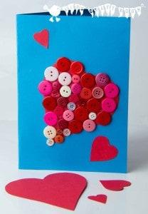 Button Valentine Card