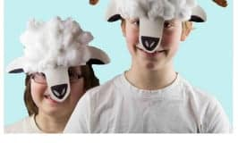 Make Paper Plate Lamb and Sheep Masks