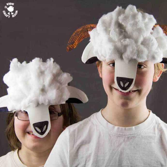 Paper Plate Lamb And Sheep Masks