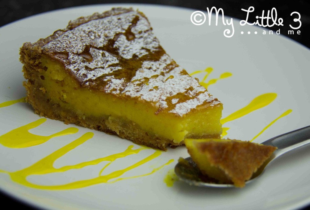 Limoncello Tart and Drizzled Sauce