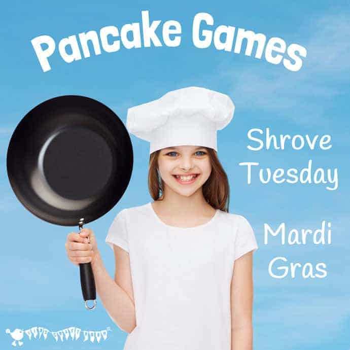 PANCAKE GAMES want some pancake fun for kids on Shrove Tuesday, Mardi Gras, or Fat Tuesday? We've got toy cookers and pancakes to make, songs to sing, games to play and a lovely 'Pancake Toppings' free printable. Enjoy exploring the traditions and tastes of the day. #pancakeday #pancakes #mardigras #shrovetuesday #fattuesday #pancakedayactivities #pancakedaycrafts #kidscraftroom #printables #kidsactivities #easter #easteractivities #eastergames #pancakegames
