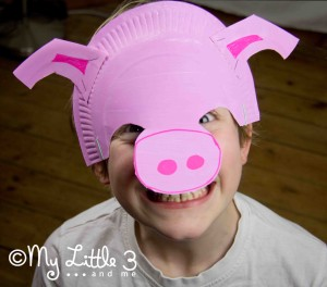 stage 8 paper plate pig mask