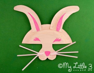 Make A Paper Plate Easter Bunny Mask Kids Craft Room