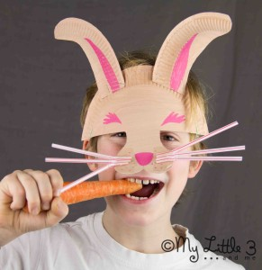 Paper Plate Rabbit Mask