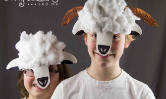 Cute Springtime Paper Plate Sheep and Lamb Masks