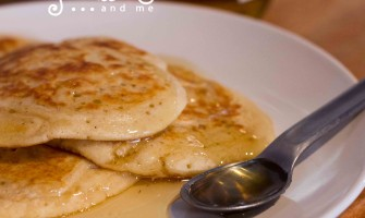 American Pancakes Drizzled With Honey