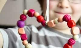 Bead Hearts - lovely gifts for kids to make.