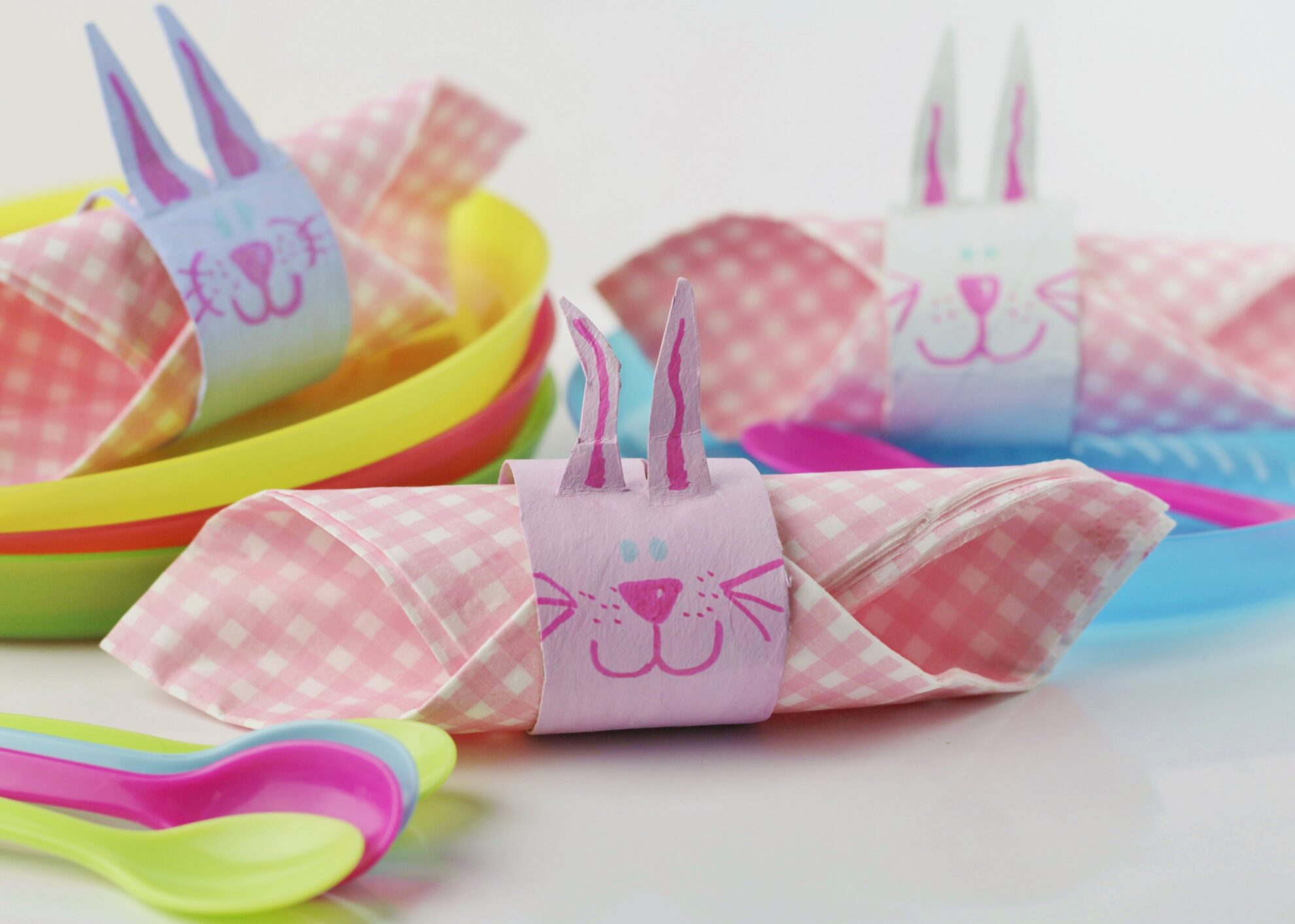 easter bunny napkin rings kids craft room