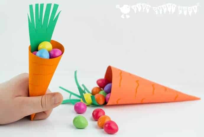 Easy carrot easter baskets kids craft room make cute carrot easter baskets great for easter egg hunts and gifts negle Choice Image