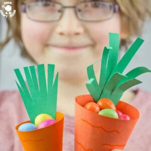 Easy Carrot Easter Baskets