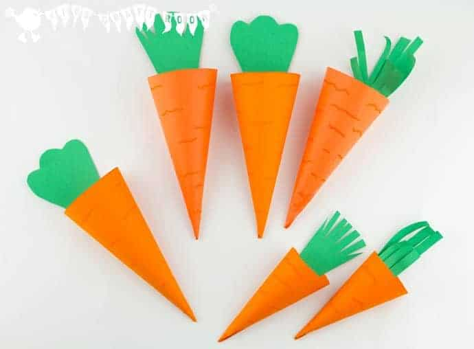 Easy carrot easter baskets kids craft room make cute carrot easter baskets great for easter egg hunts and gifts negle Images