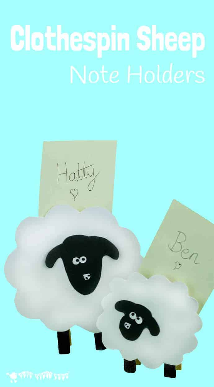 Clothes Pin Sheep (Place Card Holders) - Kids Craft Room