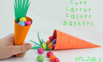 Cute Carrot Easter Baskets - Printable