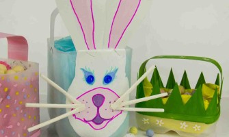 Easy Easter Baskets From Milk Bottles