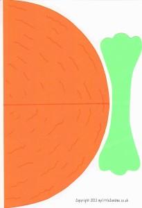 Easter Carrot Treat Holder Printable