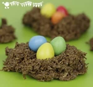 CHOCOLATE EASTER NESTS - an easy Easter treat for kids to make and a delicious Easter recipe! #easter #eastertreats #easterrecipes #easterrecipe #easternest #easternests #cookingwithkids #easterideas #easteractivities #kidsinthekitchen #chocolatenests #chocolateeggs #eastertreat #kidscraftroom #kidsactivities #kidsrecipes #kidsrecipe