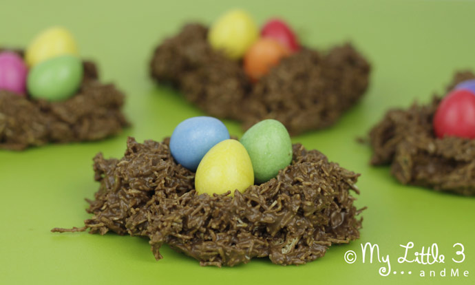 Easy Easter Nests to make with the kids.