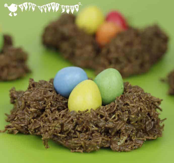 CHOCOLATE EASTER NESTS - easy for kids to make and delicious!