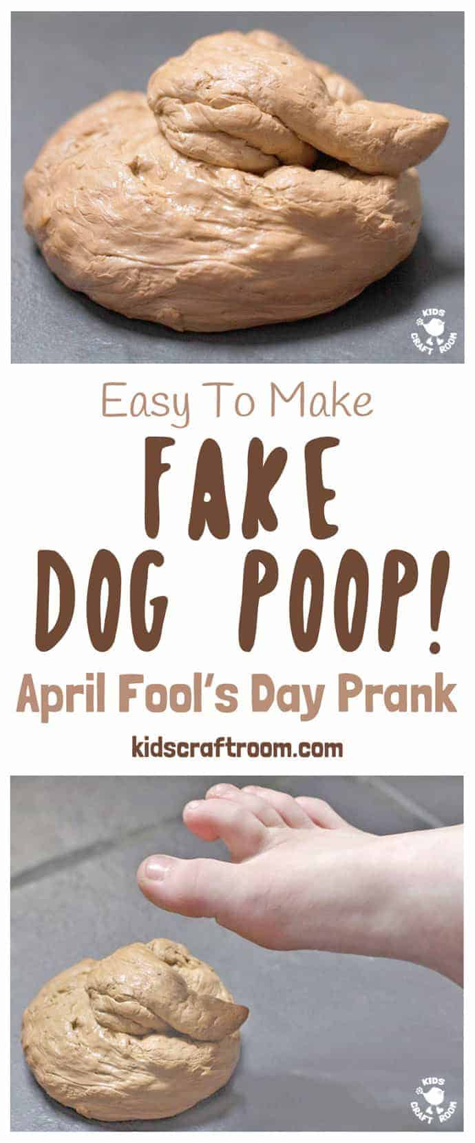 FAKE DOG POOP PRANK! Kids will love making this Fake Dog Poop! Such great fun for pranks and April Fool's Day! #aprilfool #aprilfoolsday #aprilfoolsdayprank #aprilfoolsprank #prank #joke #aprilfoolsjoke #aprilfoolsdayjoke #fauxpoop #fakepoop #trick #jest #poo #poop #dogpoop #dogdirt #kidsactivities #kidscraftroom