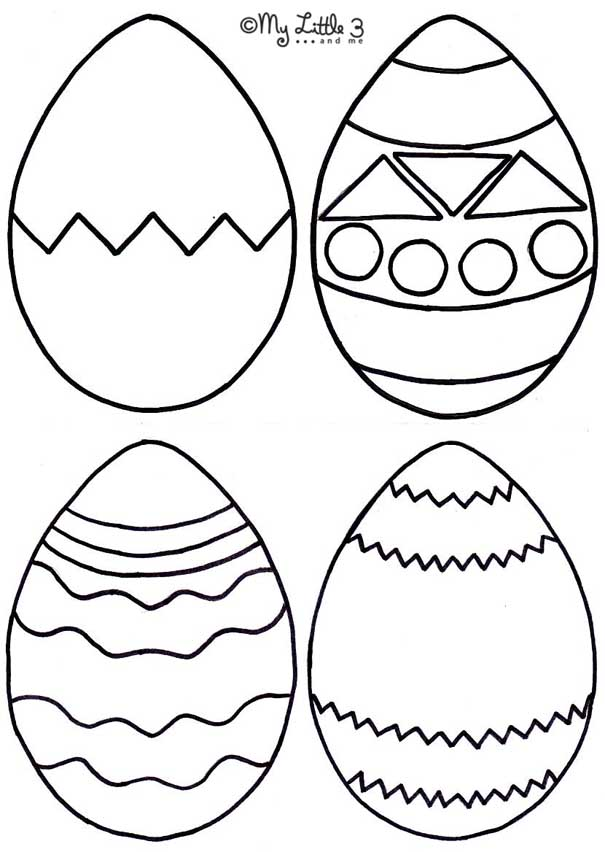 Easter foam bath puzzles kids craft room for Small easter egg template