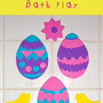 Easter Foam Bath Shapes – free printable template