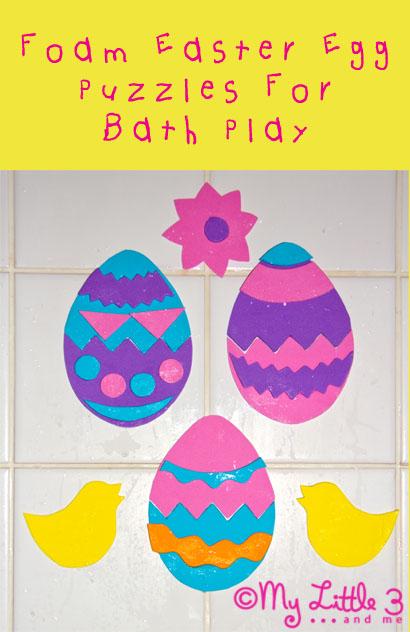 Easter Foam Bath Shapes