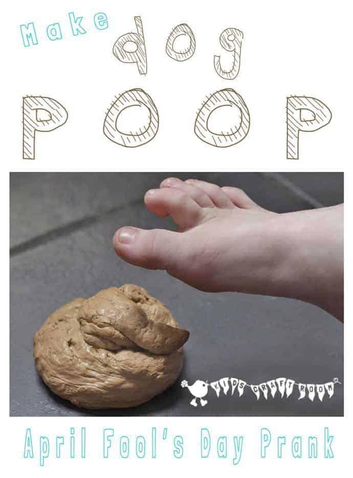 Make fake dog poo - a fun April Fool's Day prank for kids.